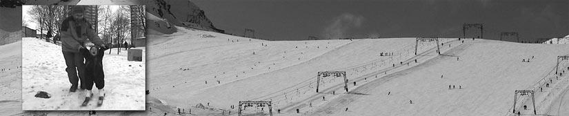 Alpine ski: first steps how to teach a child to ski