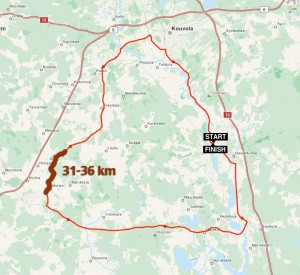Cycle route 69 km Myllykoski  Finland