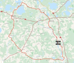 Cycle route 103 km Myllykoski  Finland