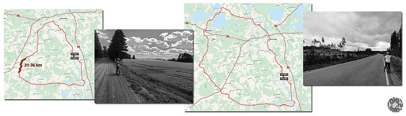 Cycle routes Finland. 69 and 103 km