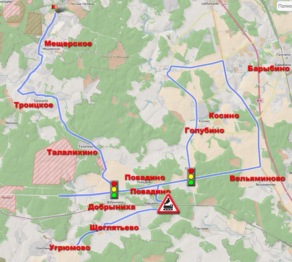 Маршрут 100 км для шоссейного велосипеда DIgInfo.ru