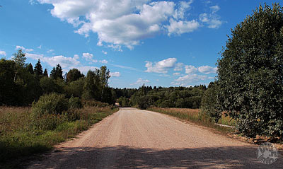 Gravel road near Borodino