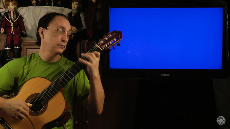 Example of picture for recording classical guitar at home