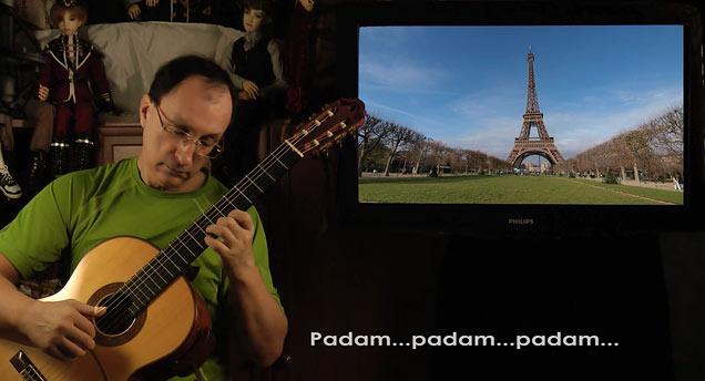 """""""Padam, padam"""" on guitar"""