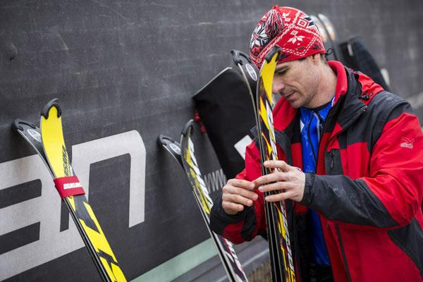 Николай Алмазкин готовится к старту