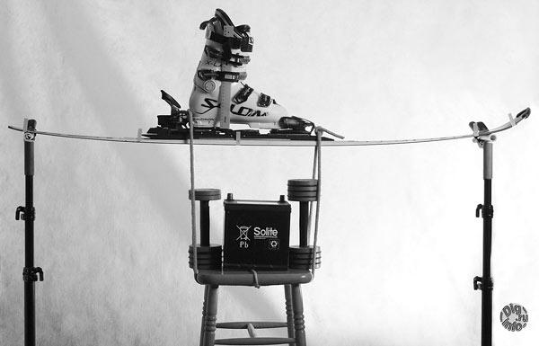 Измерение прогиба лыжи