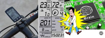 Ideal bike computer and estimated power