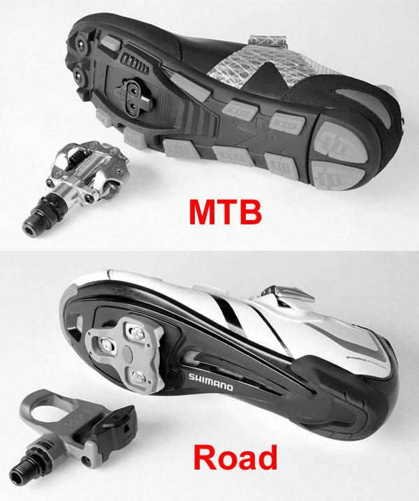 MTB road pedals