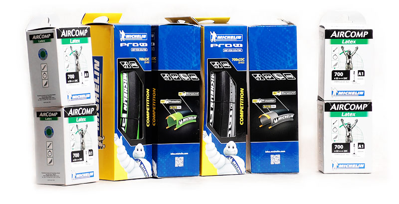 Michelin Pro4 Service Course V2 and latex inner tubes Michelin