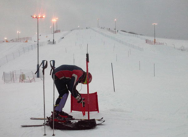 Moscow ski slalom course amateurs ski club Nauka