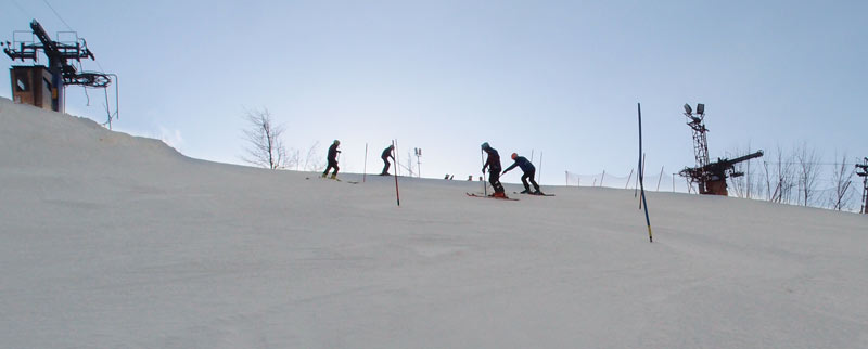 Science ski club training