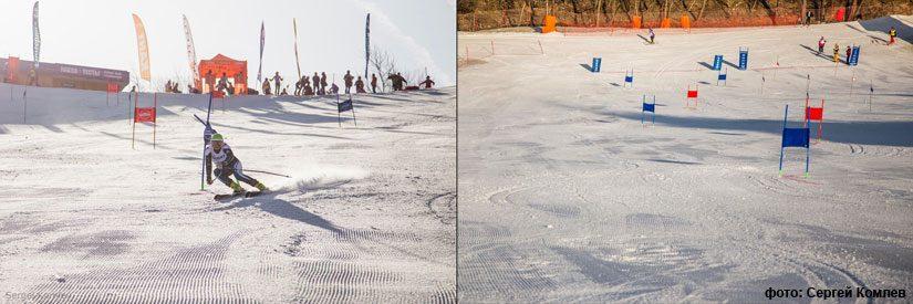 Лыжи для московского слалома-гиганта