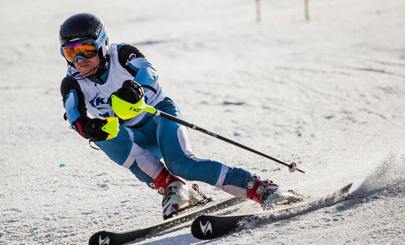 Vasily Zeyfas on ski course