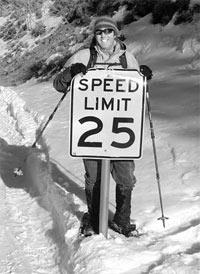 Предел комфортной скорости на лыжах
