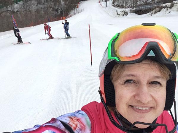 Полина Нечаева горные лыжи