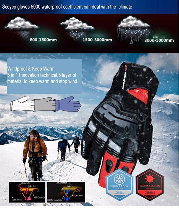 Scoyco winter gloves перчатки для зимы