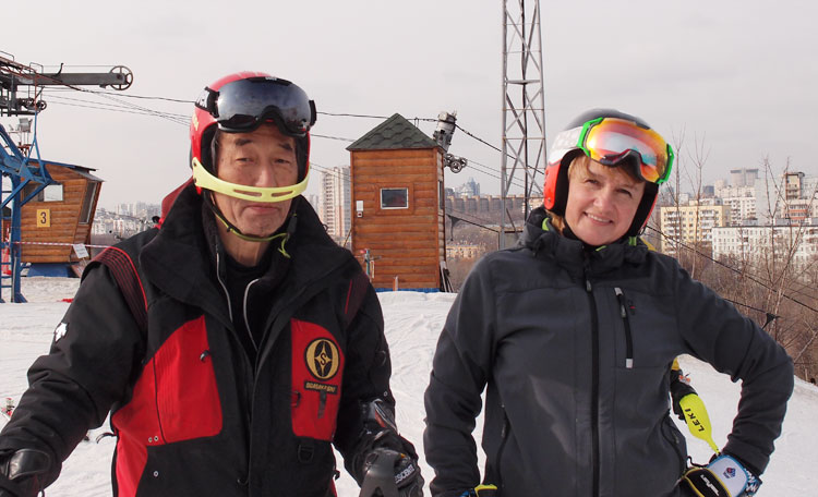 Shigeru Iwamoto, Polina Nechaeva Ski Ogasaka Triun SL 19/20